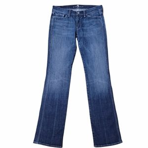 7 For All Mankind Collette Straight leg Blue Jeans Sz 27-28